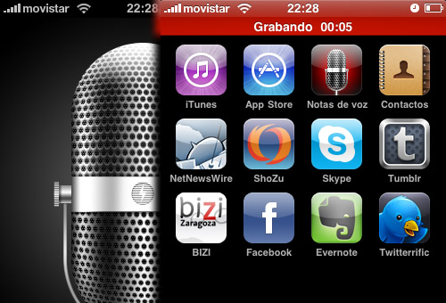 grabadora iPhone