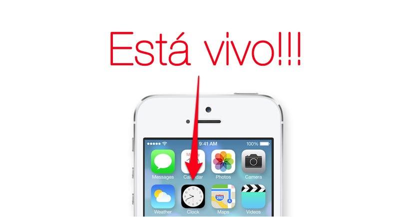 Por fin el icono del reloj cobra vida con iOS 7…