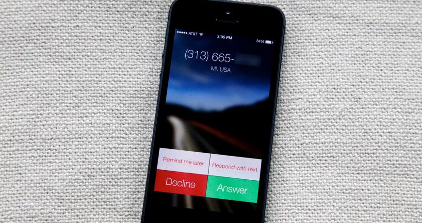 iOS 7 nos pone difícil colgar una llamada