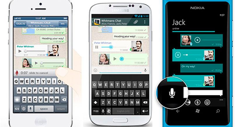 WhatsApp Actualiza los mensajes de voz en todos los dispositivos