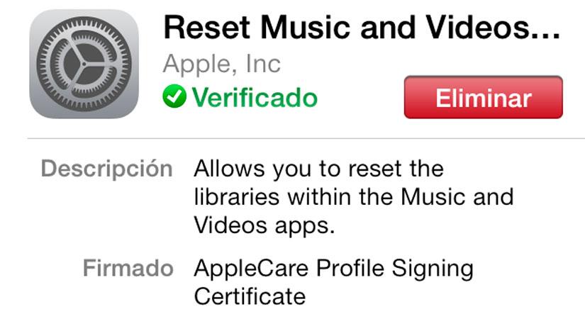 Descarga el perfil ResetMusicAndVideosLibraries que te pide iOS 7 Beta 6 si no eres desarrollador…