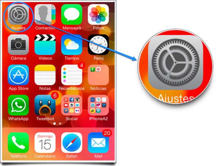 Bloquear contactos iOS 7