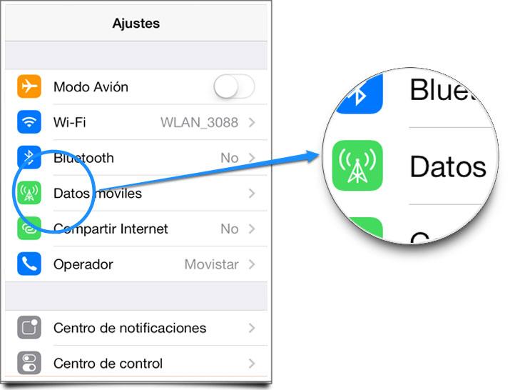 Ahorrar datos y batería iOS 7