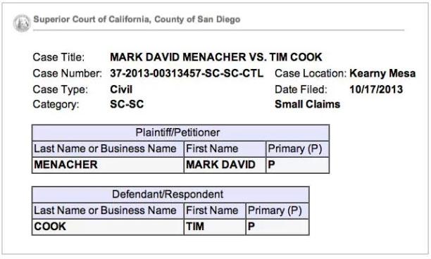 Tim Cook demandado IOS 7
