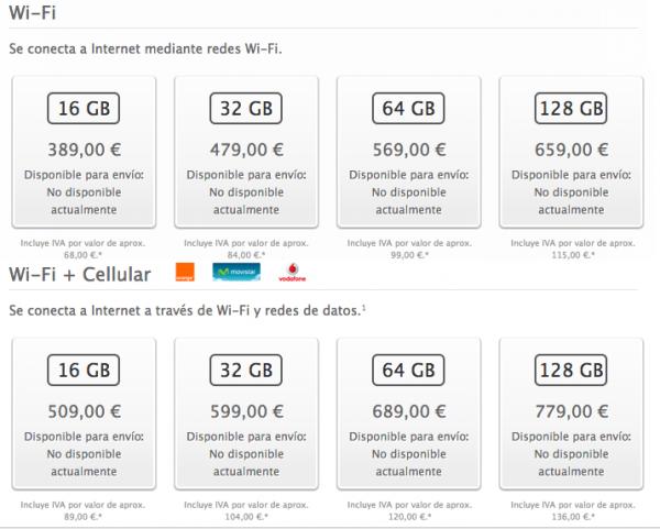 precios ipad mini retina