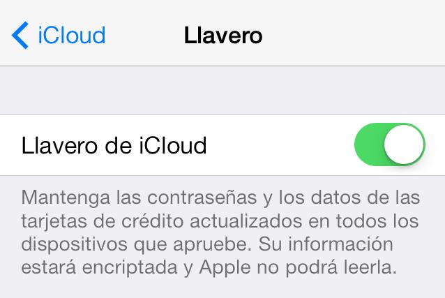 Llavero iCloud