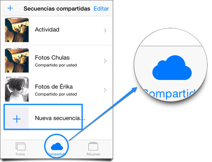 Trucos iOS 7- Compartir fotos en Streaming