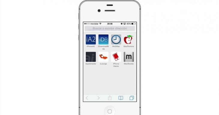 Trucos para iPhone con iOS 7: Cómo hacer que safari muestre los iconos de tus webs favoritas [Abrakadabra LXIII]
