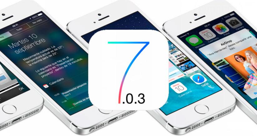 iOS 7.0.3 disponible para descargar con jugosas novedades