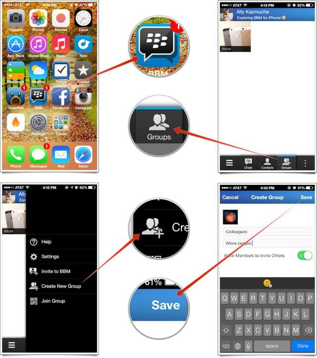 como usar BBM para iPhone