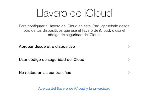 Como usar Llavero iCloud