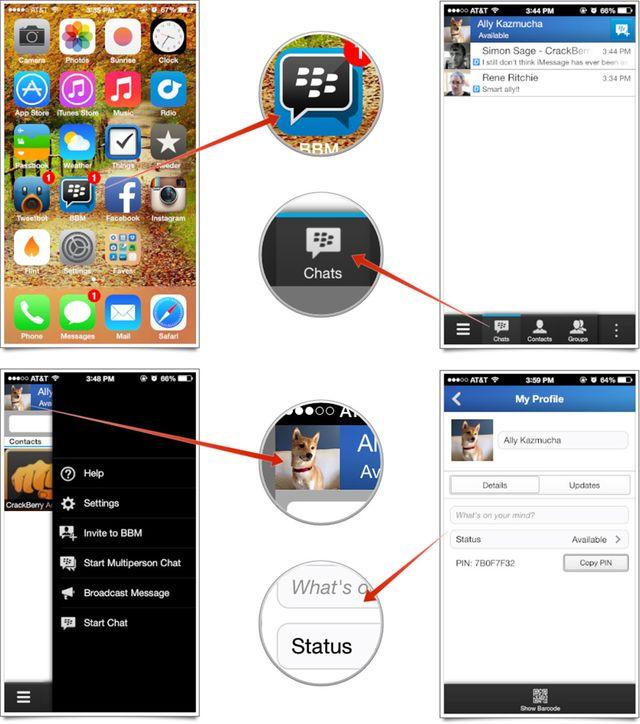 como usar y configurar BBM para iPhone
