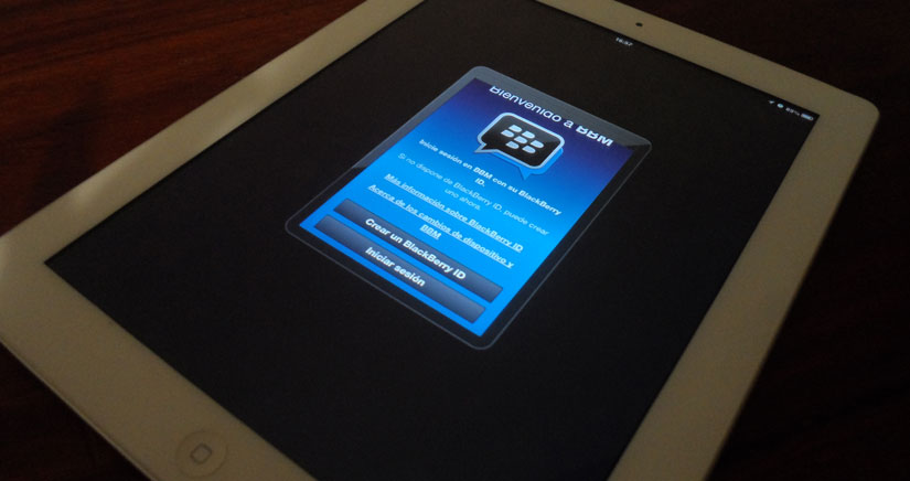BlackBerry messenger se actualiza e incluye soporte para iPad y iPod Touch