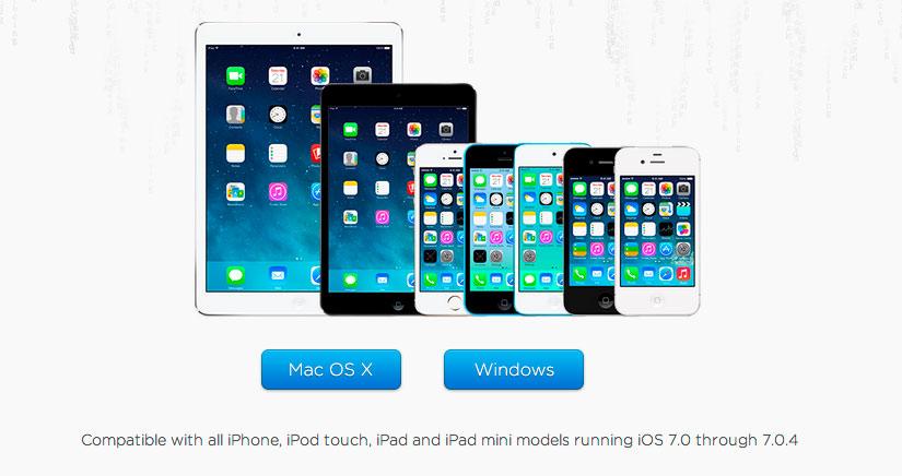 Como hacer JailBreak iOS 7 a 7.04 para iPhone 4/4S/5/5C/5S y iPad 2/3/4, Air y Mini