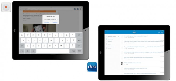 Doo e Instaweb dos apps para guardar sitios web de diferentes maneras