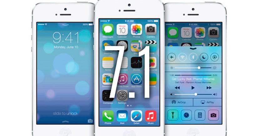 Novedades de diseño en iOS 7.1Beta 3  y compatibilidad con el JailBreak