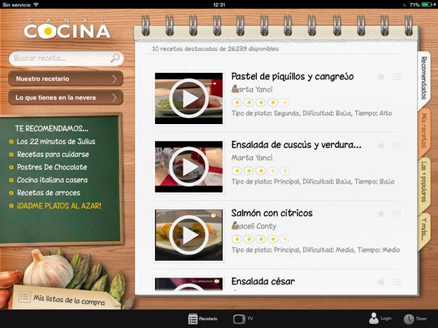 Aplicaciones-recetas-iPad