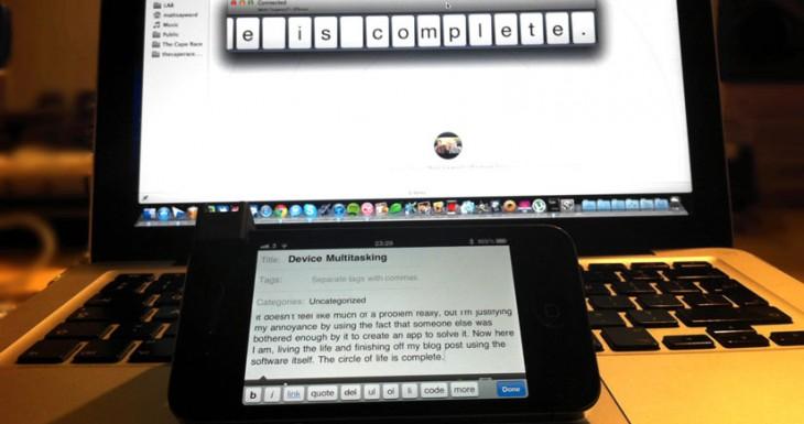 Escribe en tu iPhone o iPad desde el teclado de tu Mac con Type2Phone