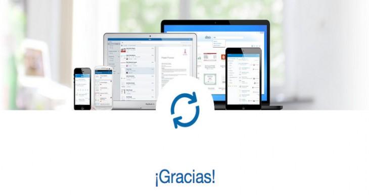 Doo Cerrará sus servicios de almacenamiento en la nube para iOS y Android