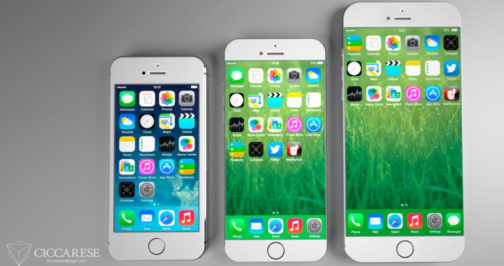 Una idea de cómo podría ser el iPhone 6 con pantalla más grande [Concepto]