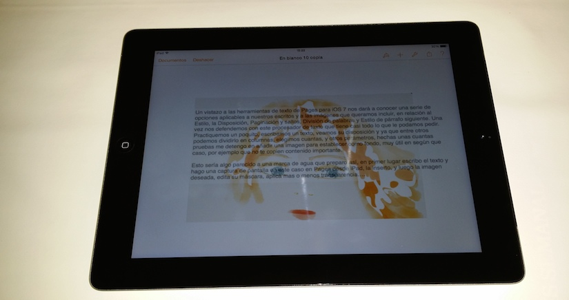 Cómo crear marcas de agua para tus textos con Pages para iOS 7