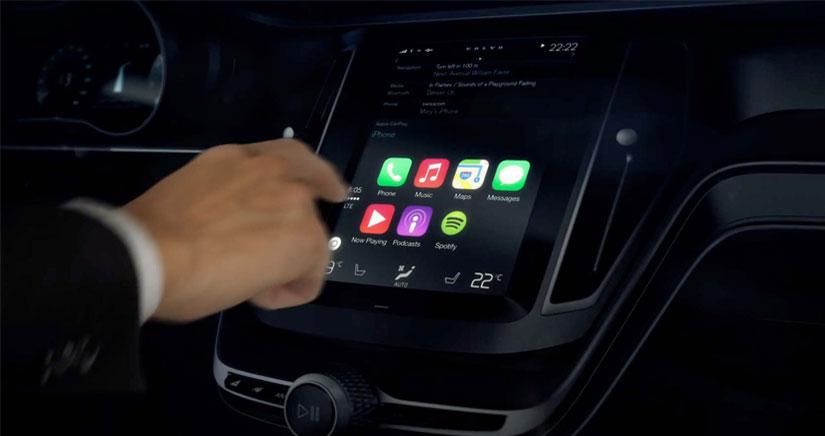 Volvo muestra la interfaz del CarPlay de Apple