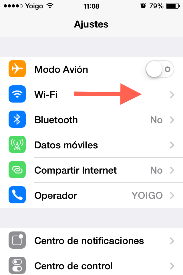 Como conectarse a una red wifi iphone
