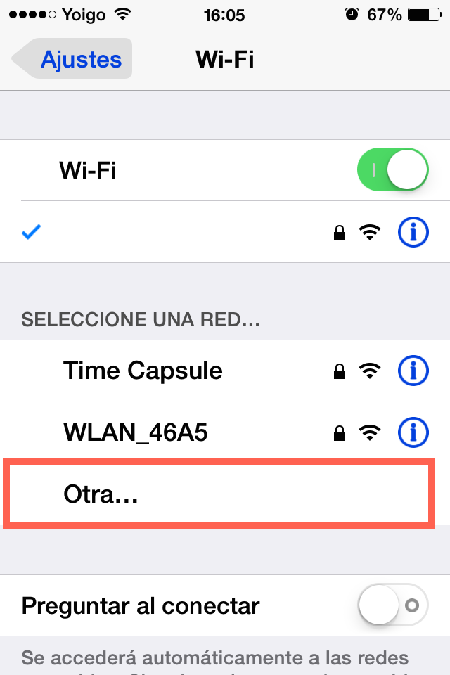 otra wifi iphone