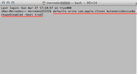 eliminar copias seguridad itunes terminal true
