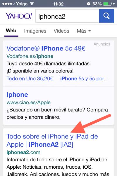 yahoo iphonea2