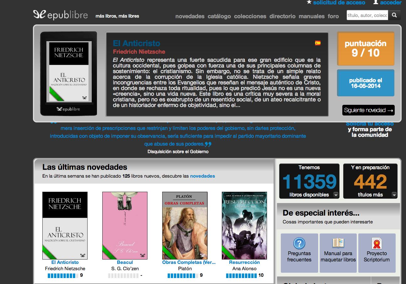 5 Páginas De Internet Para Leer Libros EPUB Gratis En Tu