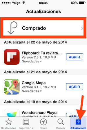 actualizaciones app store