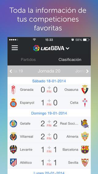 Aplicaciones futbol iPhone