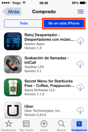 no en este iphone1
