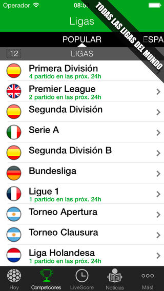Aplicaciones futbol iPhone