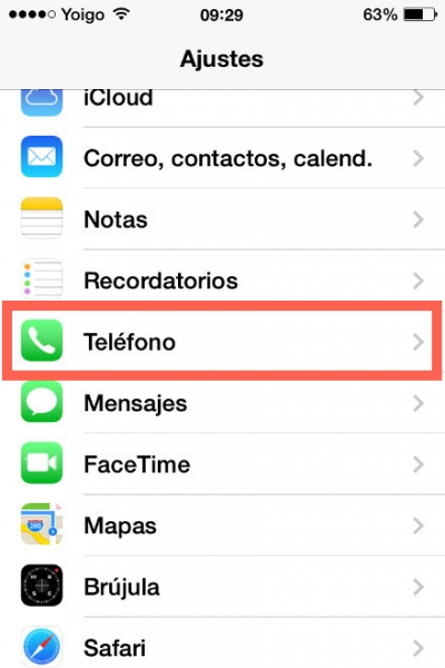 aplicacion telefono iphone