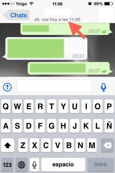 ultima hora conectado whatsapp