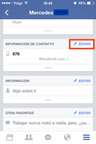 2editar info facebook