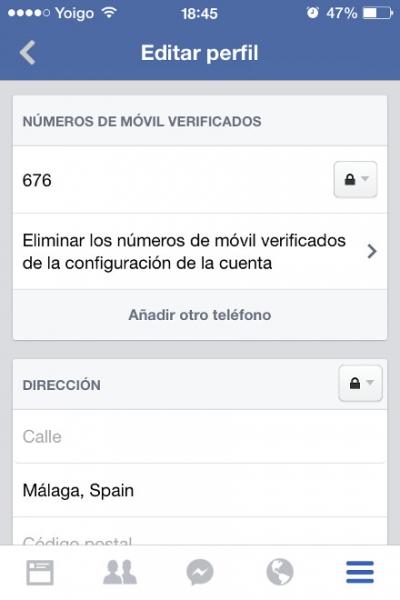 3verificar telefono facebook