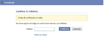 5codigo confirmacion facebook