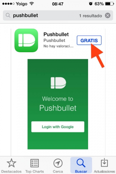 6descarga app pushbullet