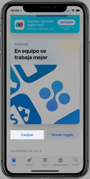 Canjear-codigos-promocionales-iPhone