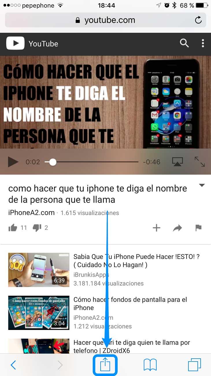 descargar videos de youtube con iphone 6