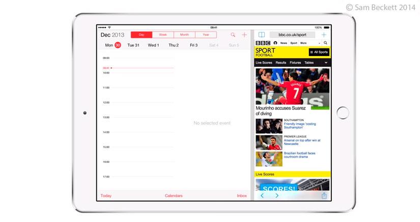 iOS 8 Beta 1 revela la posibilidad de multitarea real