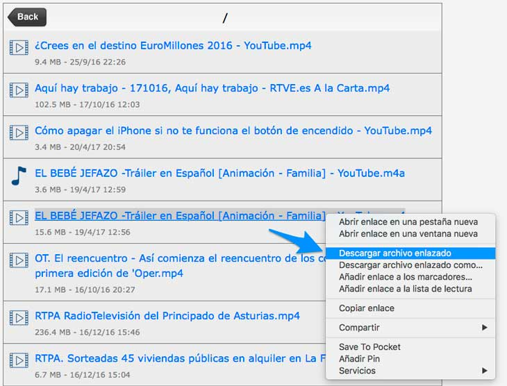 descargar video de youtube app iphone