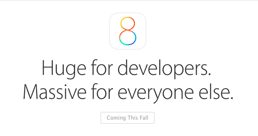 iOS 8 será compatible con iPhone 4S y iPad 2 en adelante