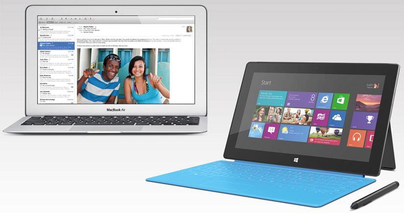 Microsoft paga 650 dólares por MacBook Air al comprar una Surface Pro 3