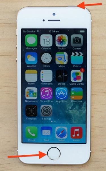 realizar captura pantalla iphone