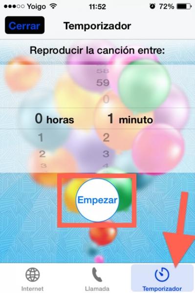 temporizador cumpleaños feliz