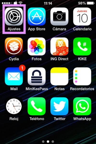 Ajustes del iPhone